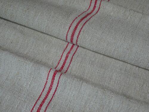 Antique European Feed Sack GRAIN SACK Red Stripe # 10221