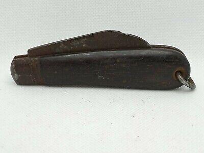 REMINGTON UMC Vintage Antique Wood Handle Hawkbill Pruner Pocket Knife |G70