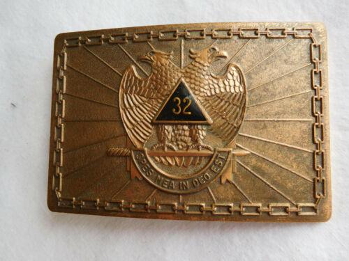 1978 Harry Klitzner 32nd degree Masonic bronze belt BUCKLE Kutzner vintage