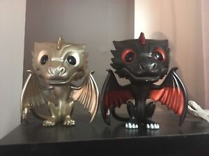 Funko pops game of thrones dragons