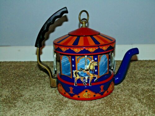 Vintage Kamenstein MKI World Of Motion Carousel Steam Driven Teapot Kettle