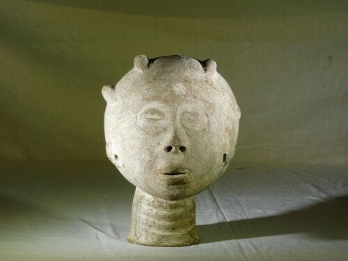 Antique African Asante Ghana Ancestoral Clay/Terracotta Head Sculpture