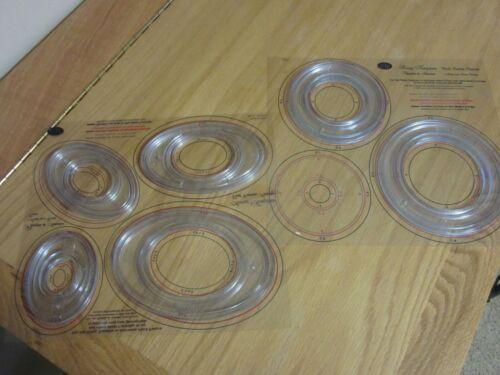 Creative Memories Custom Cutting System Circles Ovals Sizing Templates