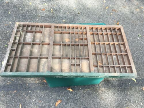 Vintage Wooden Printers Type Drawer Tray Wall Display Letterpress Antique Wood 2