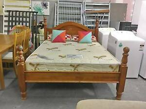 DELIVERY TODAY QUALITY STRONG WOODEN Queen bed & COMFORT mattress Belmont Belmont Area Preview