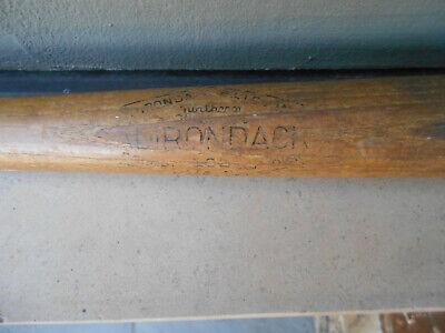 "Vtg Adirondack Northeren White Ash 34"" Baseball Bat Infield Fungo Model 102 $25"