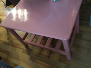 Coral pink small coffee table - available