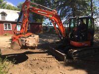 Skidsteer Services , mini excavating services