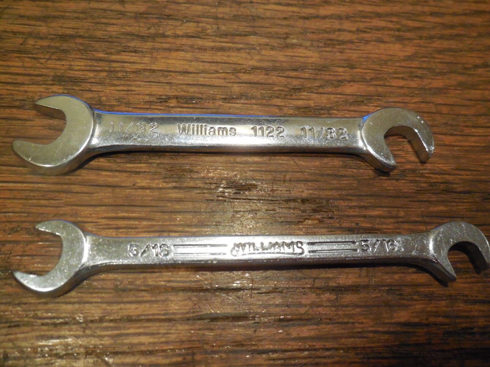 "2 Williams Tools Ignition Wrenches 11/32"" & 5/16""  #1122 1120"