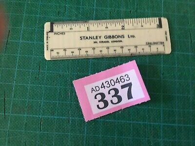 337 - SMALL Stanley Gibbons Vintage Pocket Perforation Gauge.