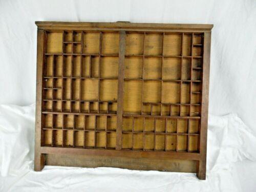 Vintage Wooden Printers Drawer Letterpress Type Set Tray Shadow Box Simons 19x22