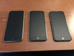 Three Space Grey iPhone 6
