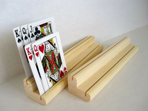 Playing Card Holder  Wooden / Two Level / Set of Two