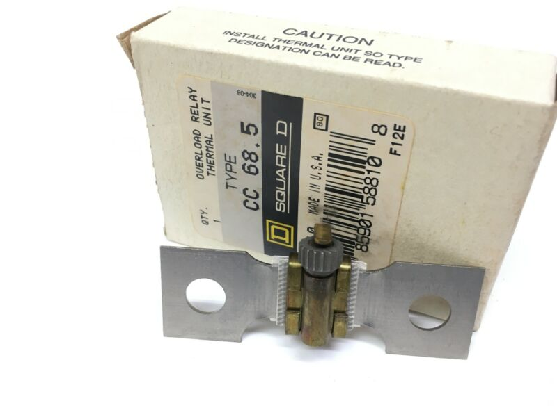 Square D CC 68.5 Overload Relay Heater Element NEW