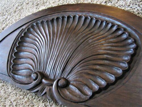 Architectural Door Transom Arch Mahogany Victorian Furniture Shell Pediment