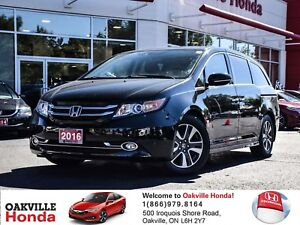 2016 Honda Odyssey Touring 1-Onwer|Navigation|DVD|Sunroof|PWR Do