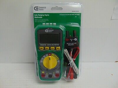 Commercial Electric 1001 418 348 Auto Ranging Digital Multimeter Brand New