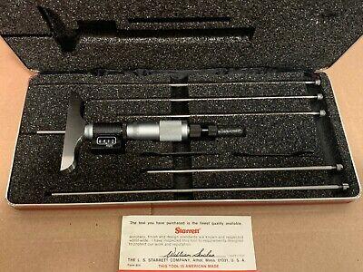 Starrett 446ma-150rl Digital Micrometer Depth Gage New