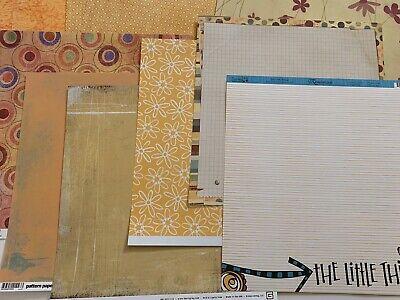 Fall Scrapbook Paper (12X12 Scrapbook Paper Lot Of 12 Orange Fall Theme Paper Basic Grey &)