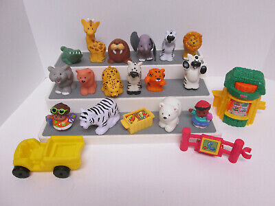 Fisher Price Little People Zoo Safari Animals Figures Accessories Lot 20 Pieces