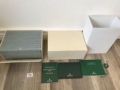 ROLEX OYSTER PERPETUAL SUBMARINER DATE WATCH BOX 100%   AUT # 73