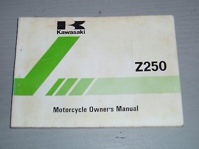 KAWASAKI Z250-A4 OWNERS MANUAL