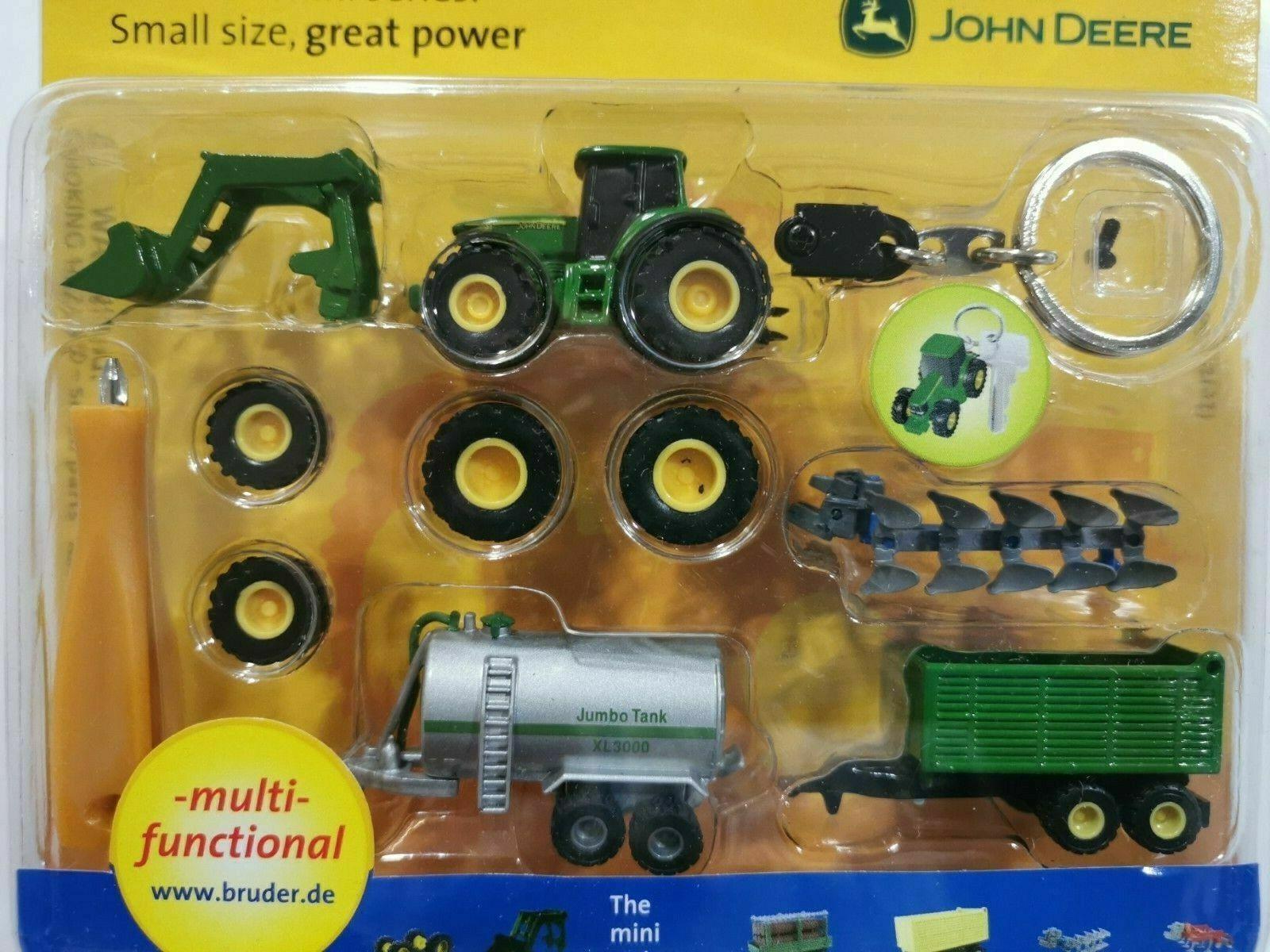 Bruder Mini Schlüsselanhänger John Deere 6920 Traktor Frontlader Rarität Sammler