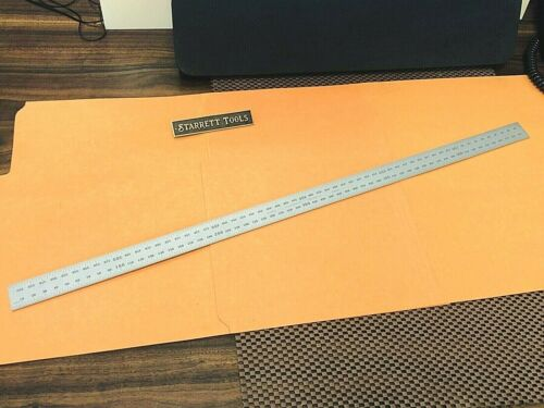 STARRETT No.CB600-35  600mm Satin Chrome Blade Only For Combination Squares. USA
