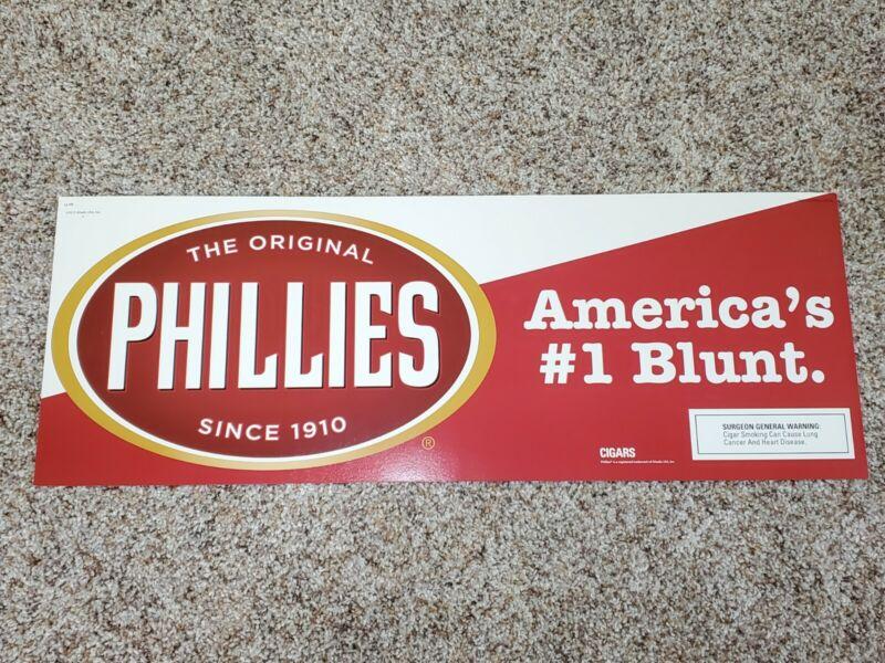 The Original Phillies Americas #1 Blunt Promo Advertising Sign Poster