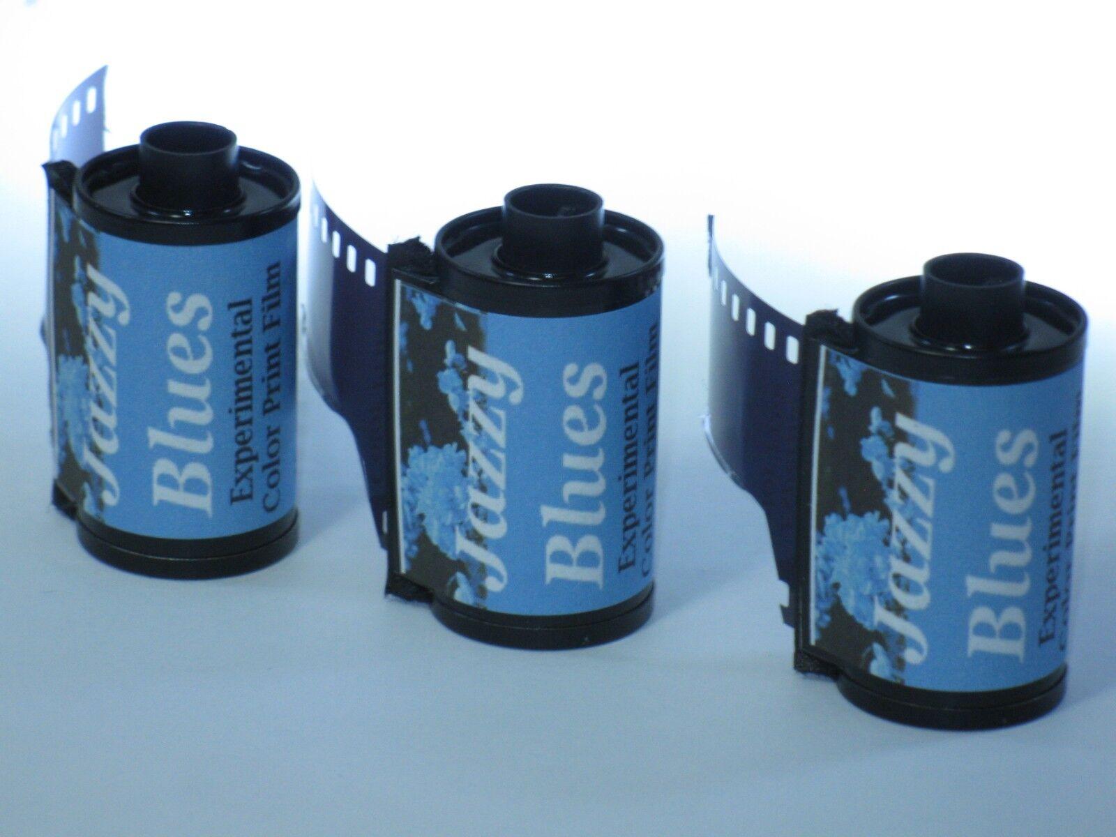 3 Rolls Ultrafine Jazzy Blues Experimental Color Print Film