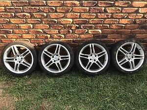 Alloy wheels and tyres ok Rims  17x7.5  Kumho 205/40 Lancer Kallangur Pine Rivers Area Preview