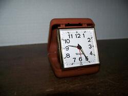 Vintage Westclox Folding Travel Alarm Clock Wind Up Works