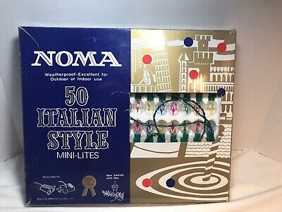 Noma Christmas Lights 50 Italian Style Indoor/Outdoor Mini-Lites Cat No 3851 Pre ()