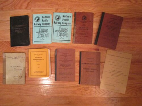 10 Piece Lot Vintage Northern Pacific Railroad Railway Paper lot Manuals Guides