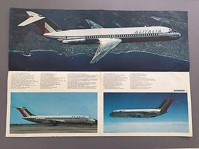 ALITALIA DOUGLAS DC-9-30 FOLOUT SALES POSTER BROCHURE GREAT PICTURES AZ