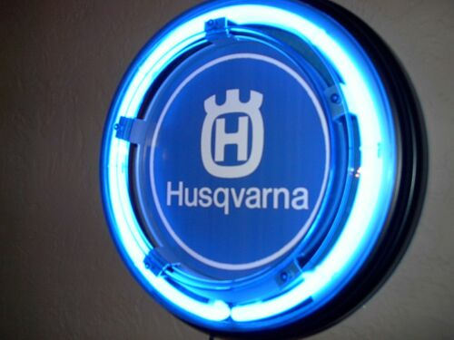 Husqvarna Husky Motorcycle Garage Man Cave Advertising Neon Sign
