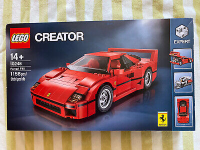 Lego Creator:  Ferrari F40 (10248) New & Sealed, 1158 Pieces, Retired, Exclusive