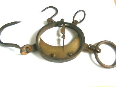 VINTAGE WROUGHT IRON SCALES FOR WEIGHING COTTON.