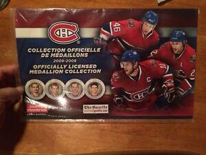 Canadiens médaillons collection neuf jamais déballé 2008-2009