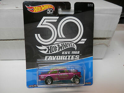 Hot Wheels 2018 50th Anniversary Favorites B Case '55 Chevy Bel Air Gasser