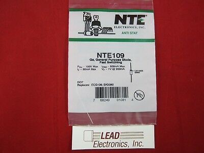 NTE109 General Purpose Diode Fast Switching axial leads AUTHORIZED DISTRIBUTOR General Purpose Diode