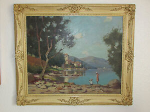 Large Original Japanese School  Oil Painting On Canvas/Board , Signed By Hirano