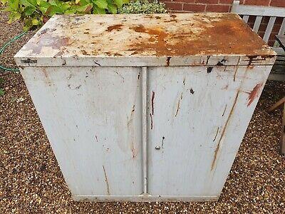 Vintage Bisley Outdoor or garage Metal Cupboard storage cabinet