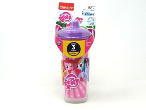 Playtex Sipsters Spout Sippy Cup My Little Pony 9oz Insulated 12 Month+ BPA Free