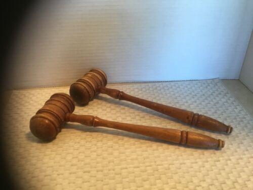 Vintage/Antique Wooden Gavels (2)