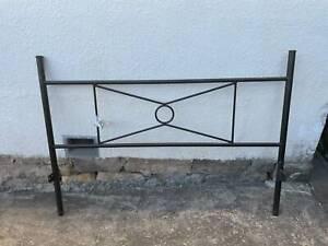 Queen bed frame black metal