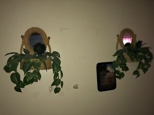 FAKE WALL PLANTS WITH MIRRORS