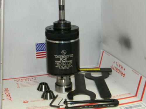 """Tapmatic 90X Tapping Attachment,3/4"""" Shank,2 collets,Wrenches,Machinist,"""