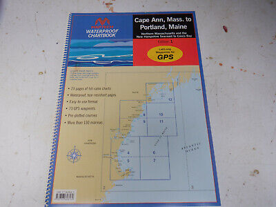 Maptech Waterproof Chartbook CAPE ANN to PORTLAND MAINE WPB0220 - Maptech Waterproof Chart Book