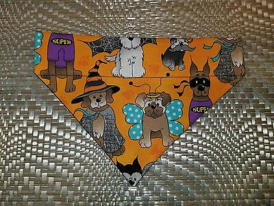 DOG BANDANA Over Collar XS-L HALLOWEEN DOGS IN COSTUMES Hats SUPERDOG Bats FUN!